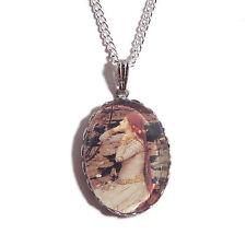 OPHELIA Pre-Raphaelite necklace boho silver waterhouse art painting victorian