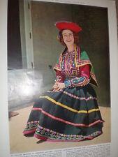 Photo article Princess Alexandra in Cuzco dress of Peru 1959