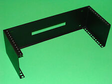 """19"""" Vertical Wall Mount Rack 4U Square Holes and Tapped Holes."""