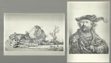 Painter REMBRANDT - 12 etches and drawings from Holland 1956 - FREE SHIPPING!