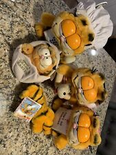 Vintage 1978 Garfield Plush Stuffed Animal Lot Of 5 !