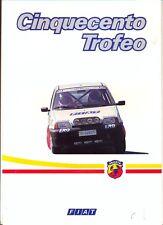 FIAT CINQUECENTO TROFEO le vendite sul mercato italiano OPUSCOLO 1992