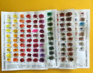 Daniel Smith Watercolour Dot Card 238 colours ** USED **