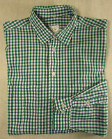 Sportliches JACQUES BRITT Hemd, Baumwolle grün-weiß kariert Gr. KW 42
