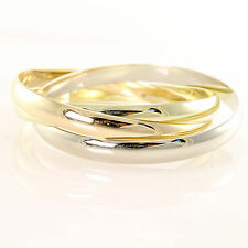 Udall & Ballou Vintage Trinity Style Bangle 14kt Tri Color Gold 100 Grams