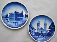 ROYAL COPENHAGEN Blue Mini Plates Trinket Dish Denmark 2010 Domkirke - Set of 2
