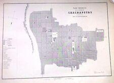 PERÚ,plano de la ciudad de Chapapoyas.Paz Soldán.Geografía del Perú 1865.