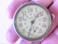 Vtg CH.F. Tissot & Fils – Locle Trench Military Officer's Watch. RUNS. NO BAND