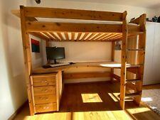 Hochbett mit integriertem Schreibtisch, Holz