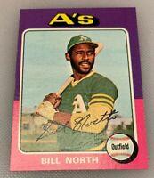 1975 Topps Mini Baseball Card # 121 Bill North Oakland Athletics A's