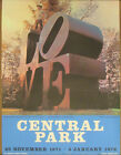 """1971 Original Robert Indiana Signed """"Love"""" Central Park Exhibition Poster"""