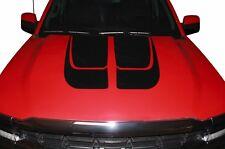 Vinyl Decal Hood Tailgate Stripes Wrap for Chevy Silverado 1500/2500 14-17 Black