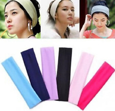 Ladies Sports Yoga Gym Stretch Cotton Headband Head Hair Band - Ladies Headbands