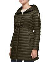 2017 Moncler Barbel Long Coat Jacket Puffer $995 size 4 Olive  NEW