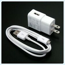 Original OEM Samsung Galaxy S4 S3 Note2 Wall Charger 2.0 Amp Micro USB Cable