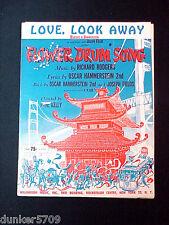 1958 LOOK, LOOK AWAY FLOWER DRUM SONG SHEET MUSIC ROGERS & HAMMERSTEIN