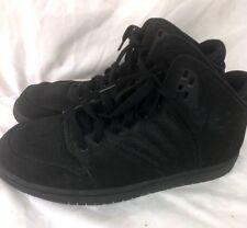 Nike Jordan Flight 4 black on black leather Sneakers Shoes men's size 10.5