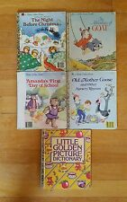 Vintage A Little Golden Book lot of Old Mother Goose The Adventures of Goat more