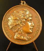 Medal Town of Vouziers Profile of Marianne Republic French 47 mm Medal