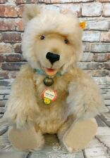 """Steiff Bear """"Teddy Baby"""" Collection 1930 Replica Mohair Collar Jointed Squeaker"""