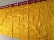 women Diwali gift Designer Bollywood Sari Silk Saree scarf Drapes Yellow/Maroon