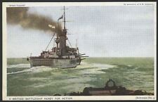 "Royal Navy. ""Britain Prepared"" Series Postcard #03. Battleship Ready For Action"