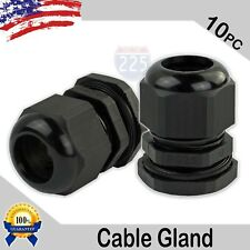 10 Pieces Pg25 Black Waterproof Connector Gland 16-21mm Dia Cable