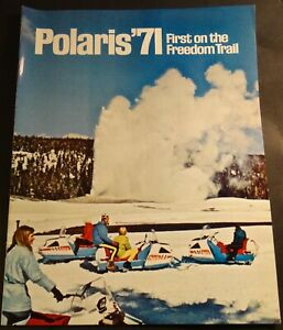 1971 POLARIS SNOWMOBILE BROCHURE FULL SIZE INCLUDING TX 12 PAGE NICE (504)
