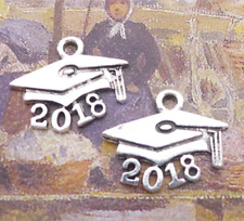 Mixed set - 8 New GRADUATION Charms Tibetan Silver Alloy TWO of each pictured