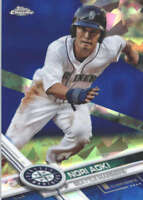 NORI AOKI 2017 TOPPS CHROME SAPPHIRE EDITION #153 ONLY 250 MADE