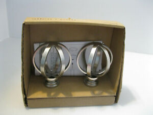 Allen & Roth Brushed Nickel Finials 1 Pair Curtain Rod Finials New in Box