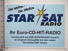 Decal Sticker Star Sat Radio (7261)