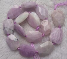 """18x25mm Natural Pink Purple Kunzite Faceted Freeform Loose Beads 15.5"""""""