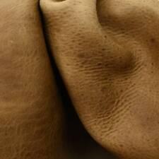 Leather Bison Side Hides Sandstone 6 oz Grainy