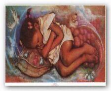 Angel Dreams Essud Fungcap African American Art Print 10x5