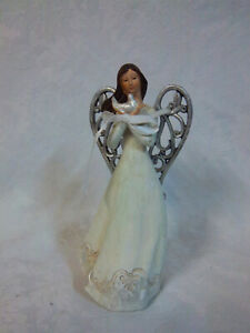 "American Greetings Angel 8.5"" Decorative Holding Dove Bird Rare"