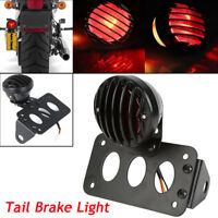 Motorcycle bike Rear Stop Tail Brake Light Side Mount Number Plate License Lamp