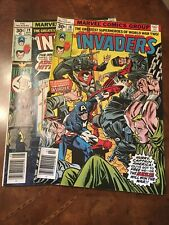 Lot of 2 Marvel The Invaders #18 19 comic books bronze age