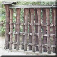 Japanese Garden Book - Fence & Wall Bamboo Woven Zen Landscape Architecture