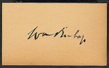 Billy Bishop WWI Air Ace Autograph Reprint On Original WWI Period 3x5 Card