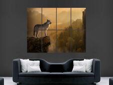 Wolf Pared Gigante Póster De Animales Salvajes Bosque Arte Imagen Impresión Grande Enorme