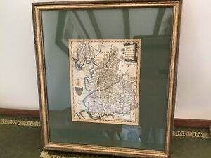 Antique Map Of Lancashire Over 200 Years Old Excellent Condition