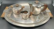 LUC LANEL / CHRISTOFLE - RARE SERVICE THÉ CAFÉ & PLATEAU ART DÉCO TEA COFFEE SET