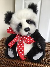 Ooak Mohair Panda Bear Magic