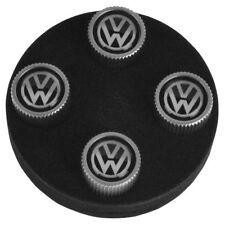 OEM ZVW355005A VW Logo Valve Step Cap Set of 4 for VW Golf R32 Jetta Passat New