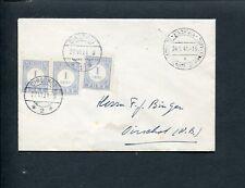 1941 DEUTSCHE DIENSTPOST NIEDERLANDE/EINDHOVEN ongefr env > Oirschot; PORT P 45