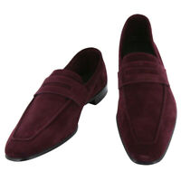 Neuf Max Verre Rouge Bordeaux Chaussures - Mocassins Plats - 7/6 - (MV116LOAFER)