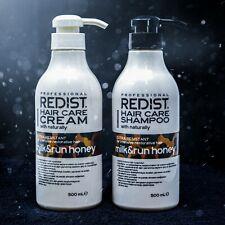 Redist Shampoo & Conditioner Set Milk & Honey All Natural 500 ml each
