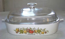 Corning Ware: SPICE OF LIFE - A-10-B - 2.5 Liter CASSEROLE w/ PYREX LID A-12-C
