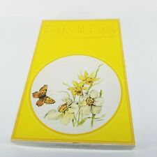 Vintage Daffodil Days Butterflies Stationery Gift Set 1979 Paper Yellow Flowers